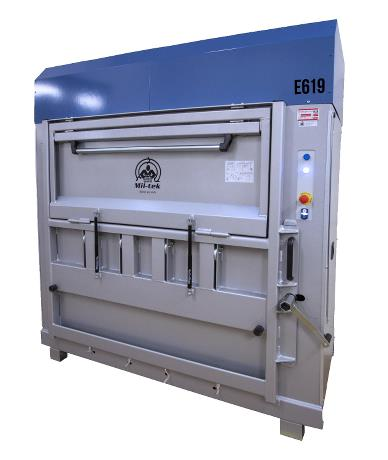 E619 Heavy Duty Electric Baler for Cardboard and Plastic Packaging