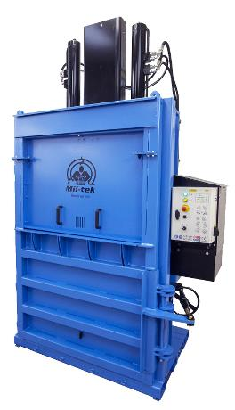 Mil-tek 50SD Mill Size Baler for Cardboard & Plastic